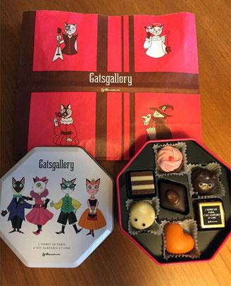 すでに求婚されているモテモテの甥っこ(5歳)がもらった猫チョコです^^