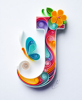 J , letter J, quilling , art, paper art, quilling paper art, quilling art, quilling paper , quilling letters art, name art, J art, quilling wall art, paper,  quilling wall art, artwork, квиллинг, Larissa Zasadna, Лариса Засадная, Квиллинг бумага