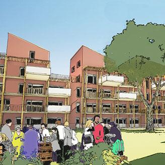 Projet d'habitat participatif à Lapujade, à Toulouse