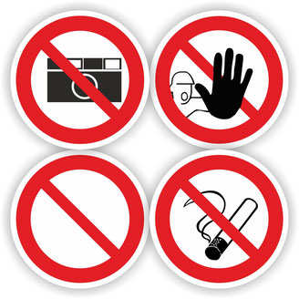Verbotszeichen, Verbotsschild Verbot