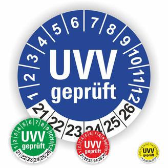 UVV geprüft Prüfung