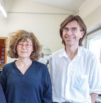 Ellen Roß und Steph Hardy von der Galerie SEHR in Koblenz