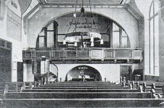 Ansicht der alten Kienscherf-Orgel