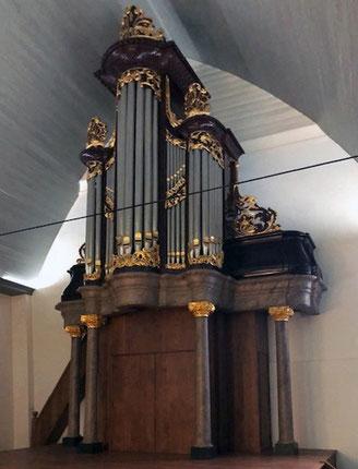 Die Steevens/Assendelft-Orgel (1746/1750) i.d. Waalse Kerk, Leiden.