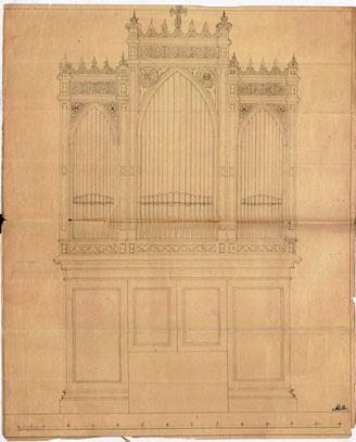 Nicht ausgeführter Entwurf von Wilhelm Müller, Berlin, 1859