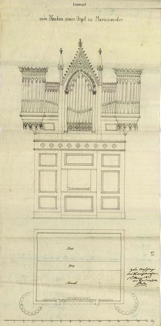Nicht ausgeführter Entwurf von Friedrich Kienscherf, Eberswalde, 1855