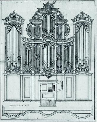 Pospektriss der Marx-Orgel von 1797/99