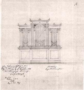 Entwurf des Mitbewerbers Georg Mickley, Freienwalde