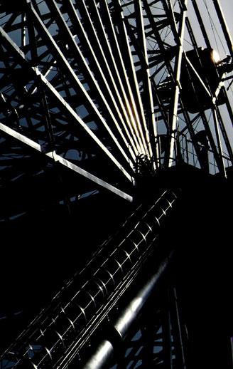 Detail of a Ferris wheel; Tsukuba, Ibaragi, Japan.