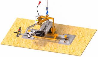 Vakuumspanplattenheber Finken VSPHM 90 2-150 für OSB-Platten und andere luftdurchlässige Materialien Tragfähigkeit bis 150 Kg
