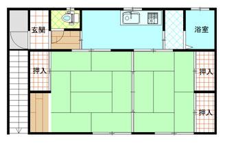 泉アパート 2K(205) 間取り図