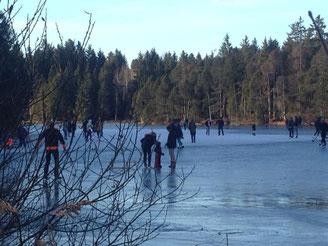 plaisier d'hiver avec sport ski, ski de fonde