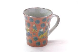 九谷焼通販 おしゃれなマグカップ マグ 木米写し 正面の図