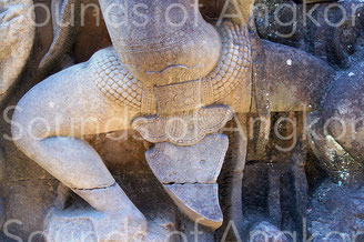 Dancer with belt bells. Terrace of Yama (also called Terrace of Leper King). 13th century.