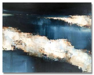 """01 """"Der Stumme Dialog"""" – Mischtechnik auf  Leinwand auf 2cm Keilrahmen – licht- und farbecht endfixiert – Größe: 100x70– Bildpreis: 800€"""