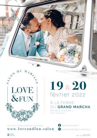 Salon du Mariage Love & Fun à Pont-à-Celles 19 et 20 Février 2022