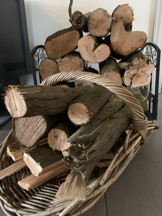 The wood is ready for the fire daily.