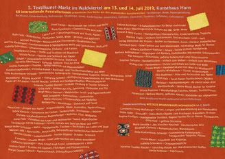 Karte 5. Textilkunst-Markt im Waldviertel: Innenseite
