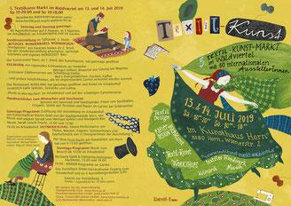 Karte 5. Textilkunst-Markt im Waldviertel: Außenseite
