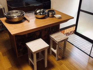 お茶とおやつおてま 台所 キッチン写真