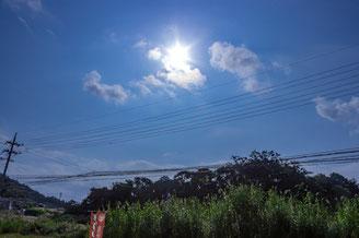 【画像】青空や明るさ補正後