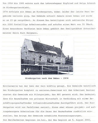 Biil: Seeligstadt Chronik 2002