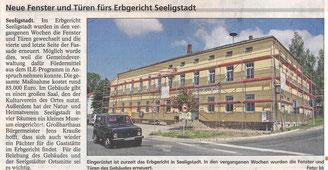 Bild: Seeligstadt Chronik 2012