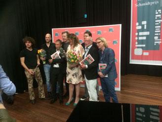 Kiki Schippers, Jan Rot, Flip Noorman, Maarten Ebbers, Alex Roeka, Rolf Verbaant, Frans Mulder, Bernd van den Bos Annie M G Schmidt prijs 2016