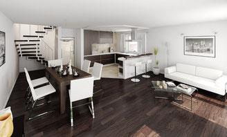 3d Wohnzimmer Esszimmer Küche