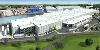 Visualisierung Firmenhalle