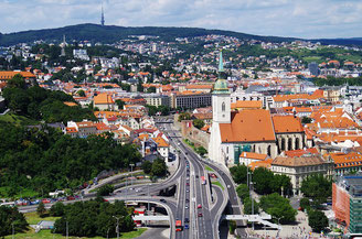 Panorama of the City Bratislava