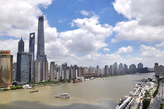 Shanghai with Yangtze River
