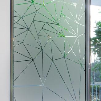 photo vitrage brise vue - déco cabinet kiné