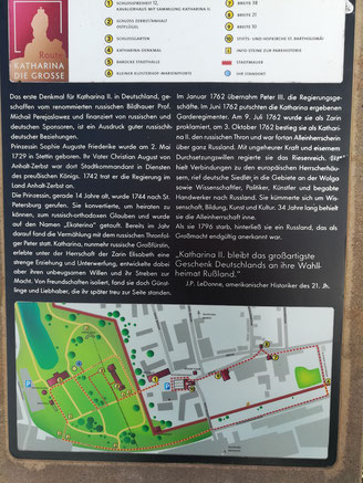 Infotafel mit Parkplan Schloss Zerbst/Anhalt