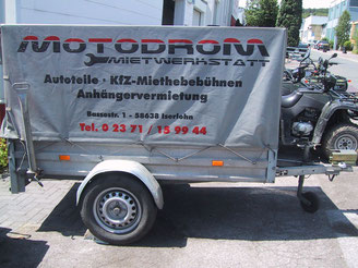 Motodrom Mietwerkstatt Anhängerverleih