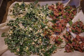 Rezept - Boerek im Blech - Tepsi Boeregi - mit 2 Fuellungen - Kaese und Hackfleisch