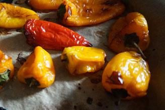 Rezept Frischkaese Dip  | mit geroesteter Paprika und Knoblauch