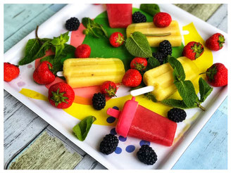 Nicecream Vegan mit Ananas l Beeren Eis Smoothie Rezept l gesundes Eis-Rezept