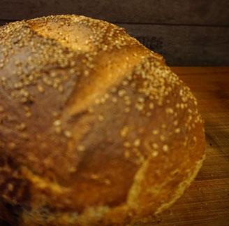 Rezept einfaches Dinkel Sesam Brot -Ekmek