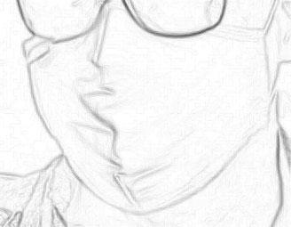 Zeichnung Maske schwarz-weiss