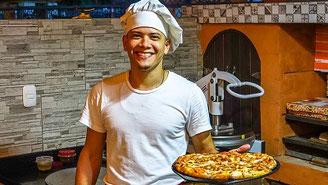 Persönlicher Kundenservice in der Pizzaria