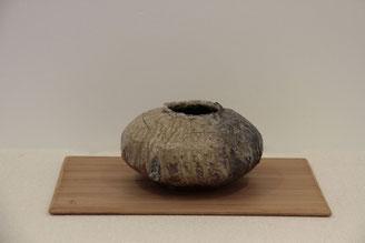 花器ー信楽土(径12.5x高26.5)