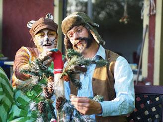 Pettersoon und Findus kriegen Weihnachtsbesuch