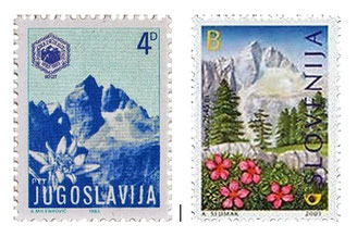 Briefmarken Jalovec, Julische Alpen