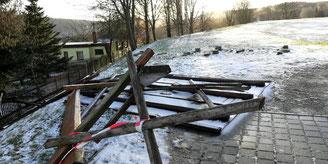 Bild: Zerstörung 2020 Wünschndorf Erzgebirge