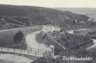 Bild: Teichler Wünschendorf Erzgebirge Klatzschmühle Lautenbachtal Postkarte 1910