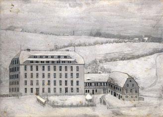 Bild: Teichler Schrötermühle Wünschendorf 1870