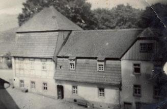 Bild: Damm-Mühle Wünschendorf Erzgebirge 1955