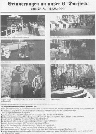 Bild: Wünschendorf Erzgebirge Dorffest 1995