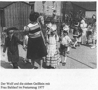 Bild: Wünschendorf Zeitungsfoto vom Festumzug 1965
